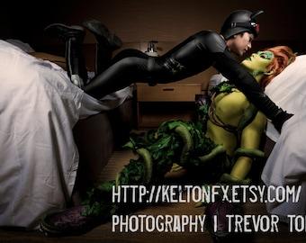 Catman X Poison Oak (Genderbend Catwoman x Genderbend Poison Ivy) Cosplay Print by Kelton FX