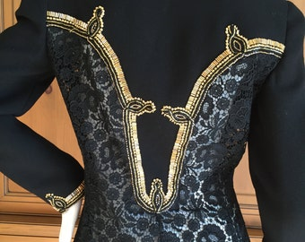 Gianni Versace Couture 1992 Lace Jacket