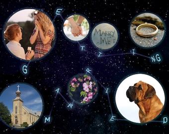 Space Wedding Announcement