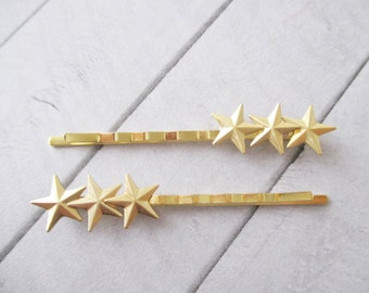 Stars hair clips Gold Stars Bobby Pins Star Hair Pins Women Hair Accessories Sky Space Milky way Girl accessories