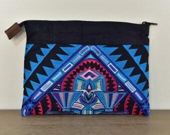 Padded Clutch/iPad Case - Tribal Orange