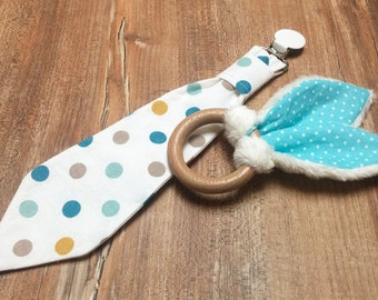 "Tie-pacifier & rattle ""soft"""