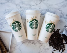 Starbucks Tumbler, Personalized Starbucks Cup, Gift for Bridesmaid, Christmas Mug, Wedding or Birthday, For Mom