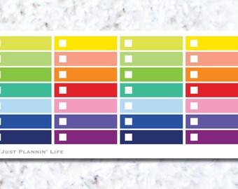 Mini Rectangle Checklist Stickers