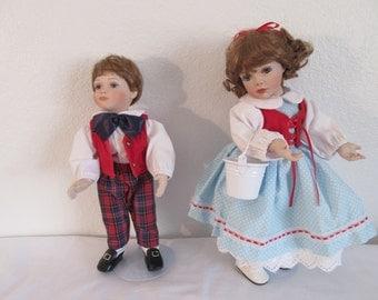 Vintage Jack and Jill Porcelain Dolls