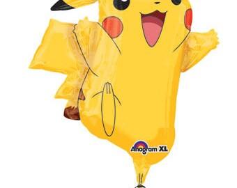 """Pokemon Balloon, PIKACHU Balloon, Party Balloon, Party Decoration, Birthday Party, Pokemon Go, Pokemon Party, Pokemon Theme, Pokemon, 31"""""""