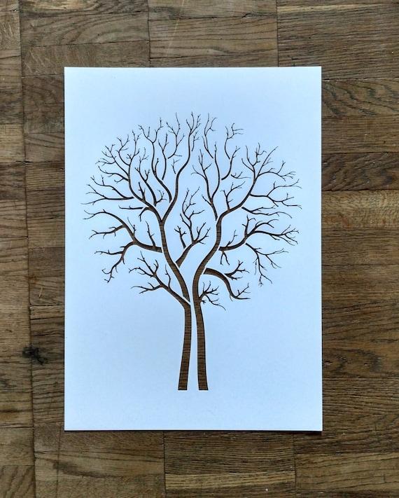 tree stencil painting art supply wall art plastic. Black Bedroom Furniture Sets. Home Design Ideas