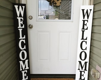 Wood Welcome sign, Front porch welcome sign
