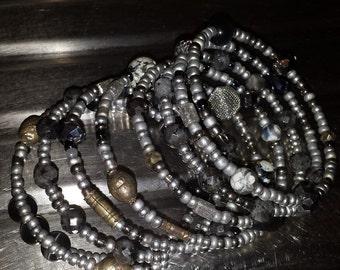 Grey memory bracelet