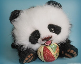 The Panda, soft toy, toys handmade