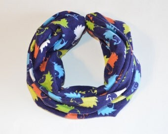 Faux infinity Hedgehog Scarf with button snap