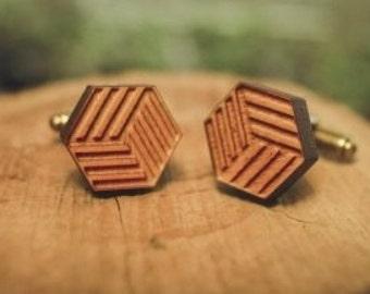 Wooden Cufflinks Laser Cut Cuff Links Nature Cuff Links Mens Cufflinks Grooms Cufflinks Wedding Cufflinks Mens Gift