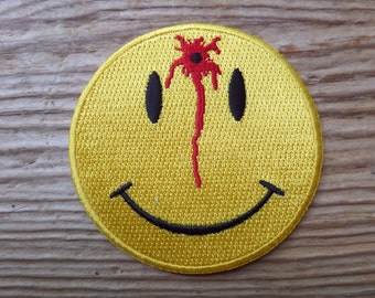 Shot Smiley Face embroidered patch