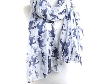 Infinity Scarves / Womens Scarves / Mom Gift / Fashion Accessories / Digital Animal Print / Horse Print Scarf / Gift for Her / Printed Scarf