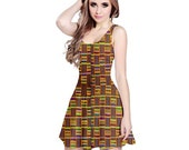 African Kente Reversible Sleeveless Dress