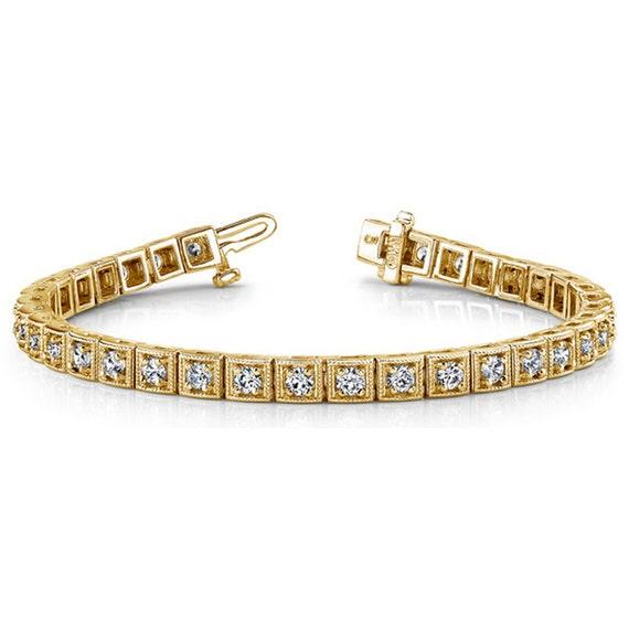 tennis bracelet certified unique vintage style