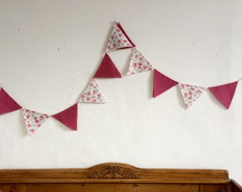 Rustic wedding bunting, Floral bunting, Rustic floral bunting, wedding bunting, wedding decor, garden party bunting, handmade, home decor
