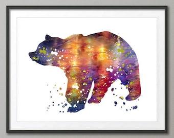 Bear Art Print, Bear Decor, Bear Watercolor Art, Bear, Bear Wall Decor,Pic no 33