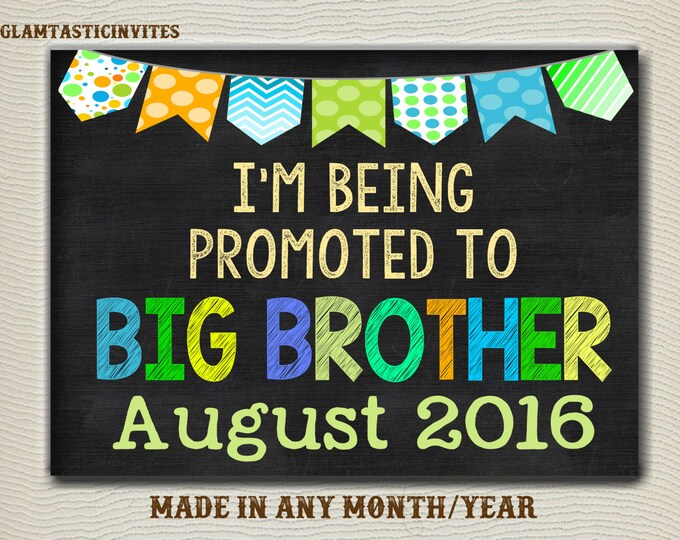 Pregnancy Announcement, Big Brother, Pregnancy Chalkboard, Pregnancy Sign, Going to be Big Brother, Baby Announcement, Baby Reveal, Digital