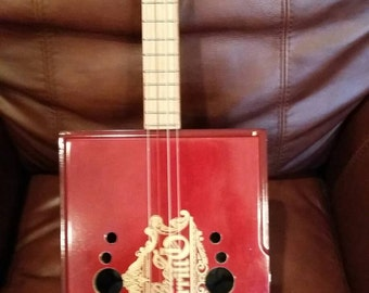 Cigar box tenor ukulele