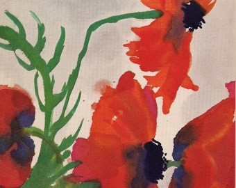 Poppies - Eric Nolde Print -  Expressionist art print - gift for artists - gift for art lovers -- Spring Bouquet - flower print