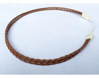 Double braided headband 2 strand leather