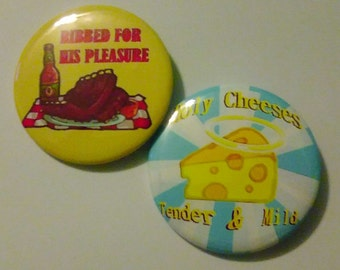 Funny Food (growing button set, Pinback 2.25 inches)