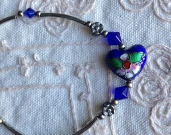 Cloisonne bracelet, cloisonne bracelets,  vintage cloisonne bracelet, vintage cloisonne bracelet, cloisonne jewelry