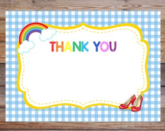 Wizard of Oz Thank You card, Wizard of Oz Thank You note, Wizard of Oz Thank You, Wizard of Oz Custom Thank You Note