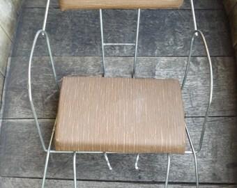 For vintage child bike seat / door-child for former bike / child seat in metal and skai vintage