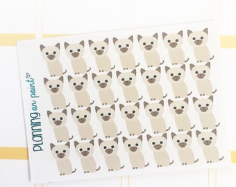Siamese Kitten Cat Planner Stickers!