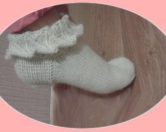 Hand knit socks. Warm socks handmade. Knitted socks. Socks for women.
