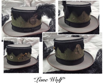 Lone Wolf (Steampunk Decorative Top Hat)