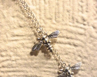 Wasp Totem Lariat Necklace