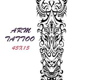 temporary tattoo sleeve etsy