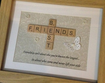 best friends frame bff quote wall art personalised gift friends christmas gift best friends keepsake christmas gift friends quote