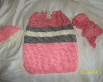 Pink Baby Sack Set