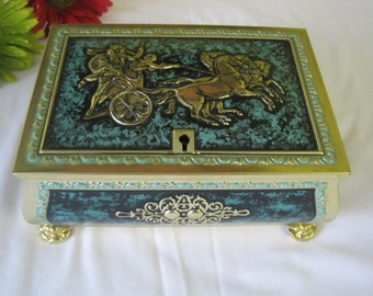 Vintage metal box / Vintage Box of metal