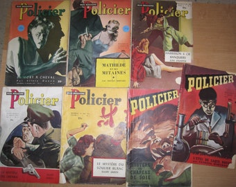 Vintage 7 magazines policeman Collection / Vintage 7 GB shopping Policeman Collection