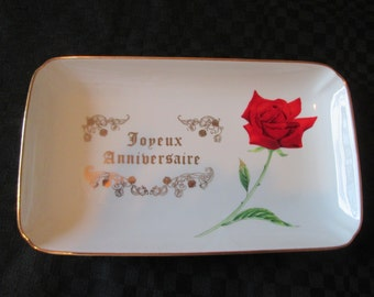 Vintage plate / happy birthday Plate