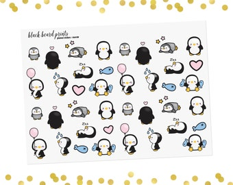 Cutie Penguin Planner Stickers