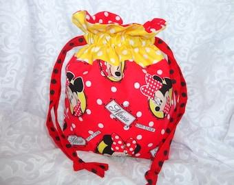 Draw String Bag, Project Bag, Draw Sting Purse, Draw string Tote, Pouch, Yarn Storage bag, knitting bag