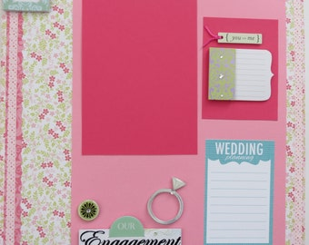 "Our Engagement 12x12"" Premade Scrapbook Pages"