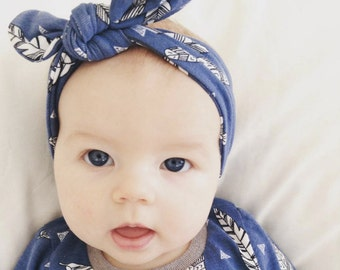 The Feathers Organic Cotton Baby Headband