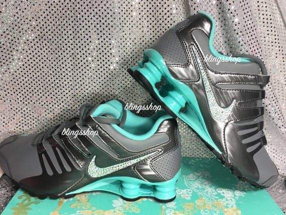huge selection of b0b52 b64c7 free shipping Blinged Nike Womens NIKE Shox Current Shoes Gray by Blingsshop