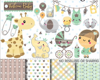 80%OFF - Baby Clipart, Baby Graphics, COMMERCIAL USE, Pregnant Mom, Planner Accessories, Pregnancy, Maternity, Expecting, Baby Shower