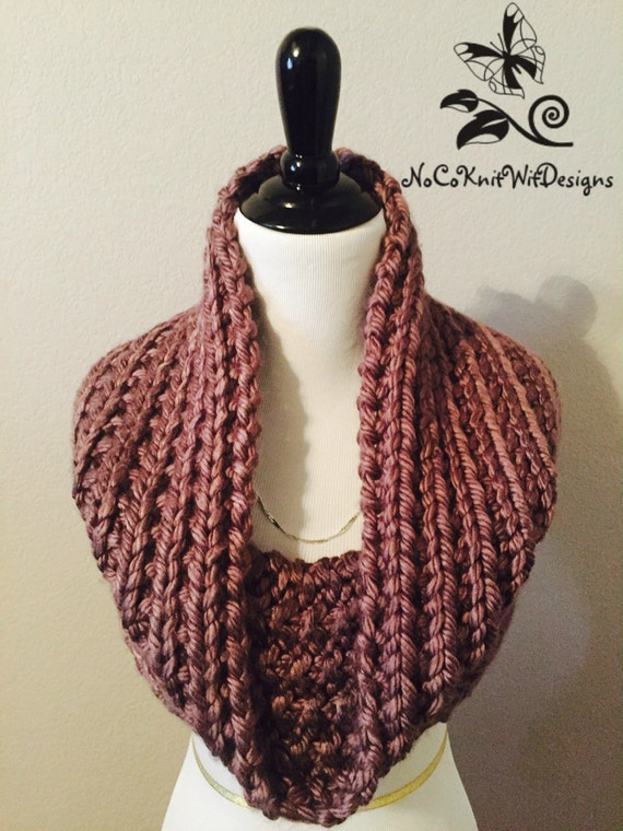Infinity Scarf Knitting Pattern Bernat : Knit Infinity Scarf / Cowl Pattern- (Instant Download ...