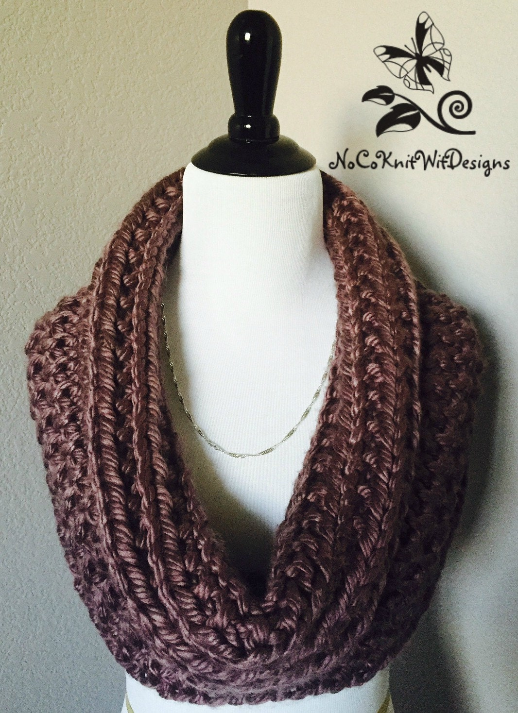Knit Infinity Scarf / Cowl Pattern Instant Download easy