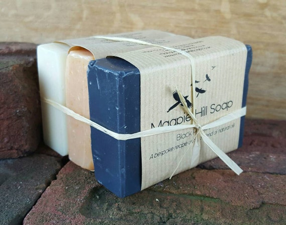 Men's Soap Gift, Black Pepper Soap, Sandalwood Soap, Plain and Simple Soap, Gift Set,