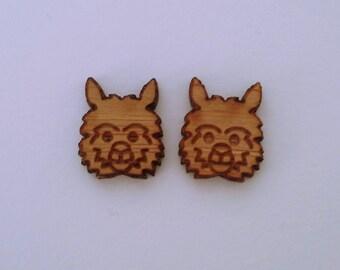 earrings bamboo llamas